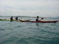 Expedicion de tres kayaks