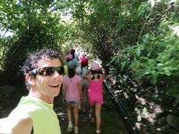 Actividas senderista con niños