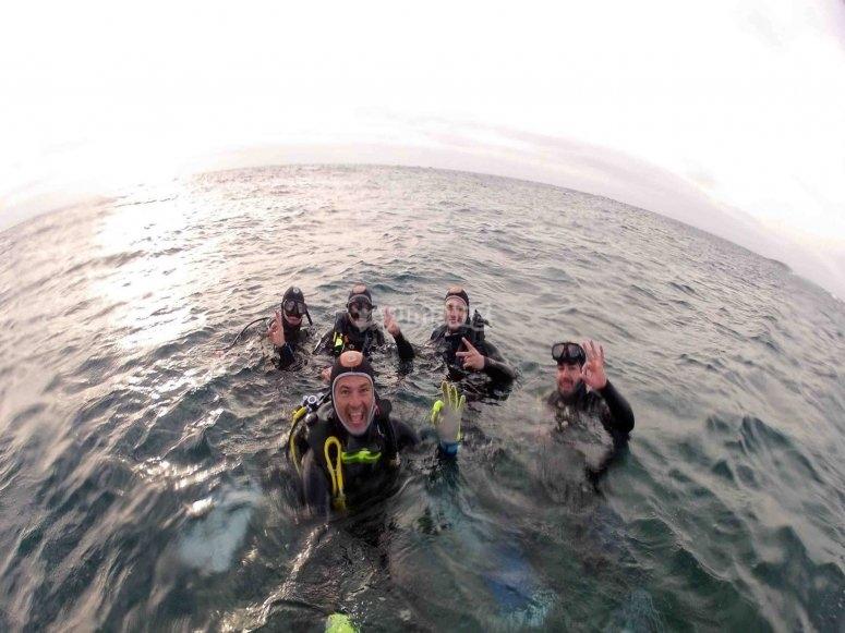 Salida subacuática en Maspalomas