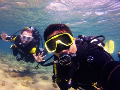 Dive immersion Maspalomas with diving equipment