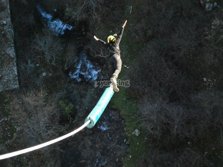 Saltando a 40m di altezza
