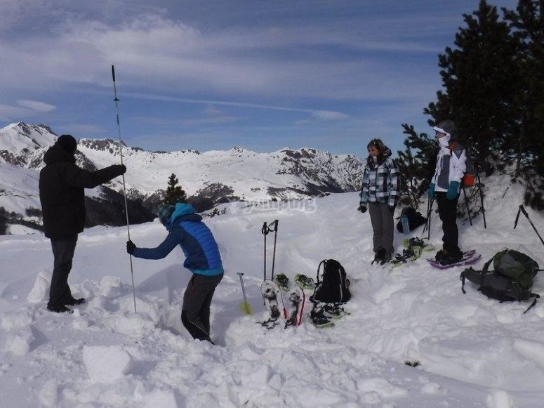 Aprendiendo tecnicas en la nieve