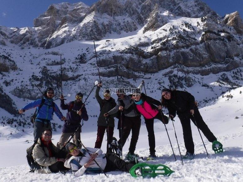 Raquetas de nieve en Pirineo Oscense
