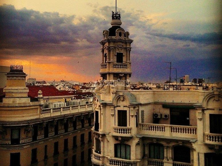 日落时的马德里