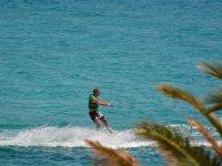 Practicing water skiing in Ibiza