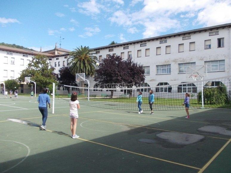 Sul campo da pallavolo