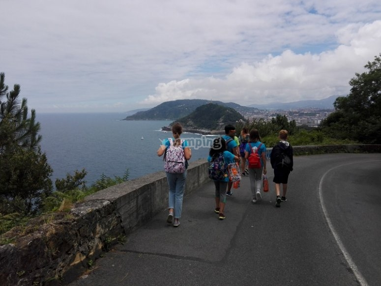 Excursion in front on the coast