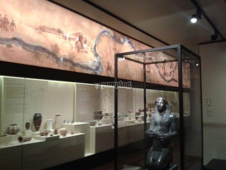 Visita a la sala de Egipto