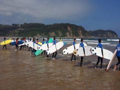 Corso di surf a Villaviciosa, 7 giorni 2 ore e 30 min