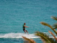 Practicando waterski