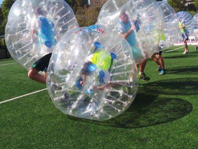 Partido de fútbol bubble en Donosti 1 hora niños
