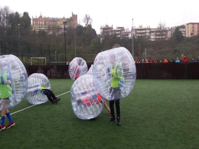 Partida de futbol bubble