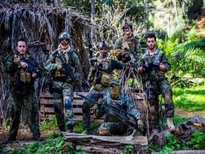 Airsoft round on a forest during 4 hours