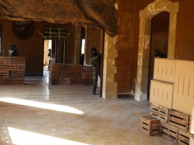 Airsoft game in a mansion, Barcelona