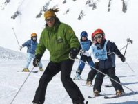 Ski lessons with kids