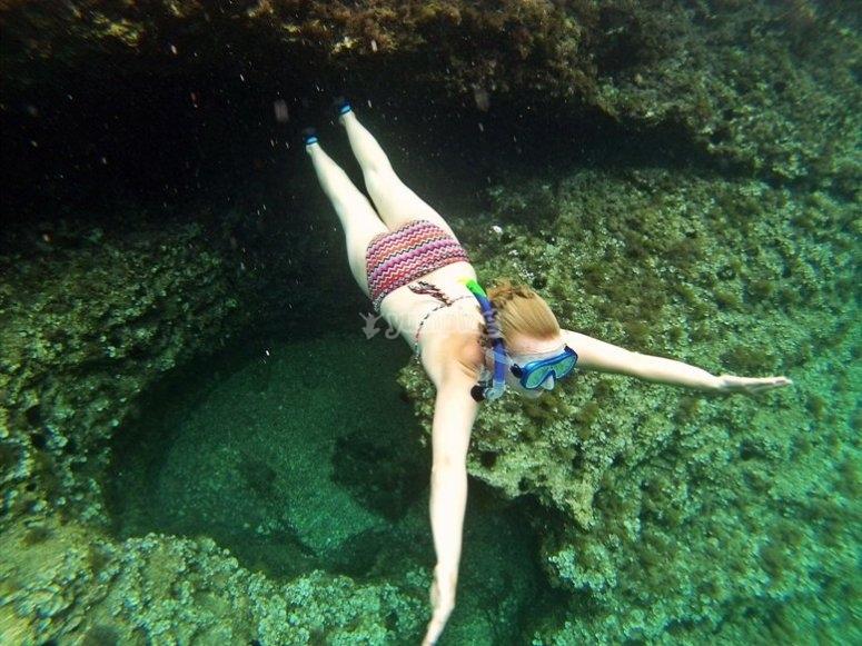 享受海底世界
