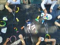 Pintando herraduras con acuarelas