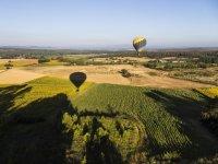 Empordà气球飞行和酒店菜单,享有美景