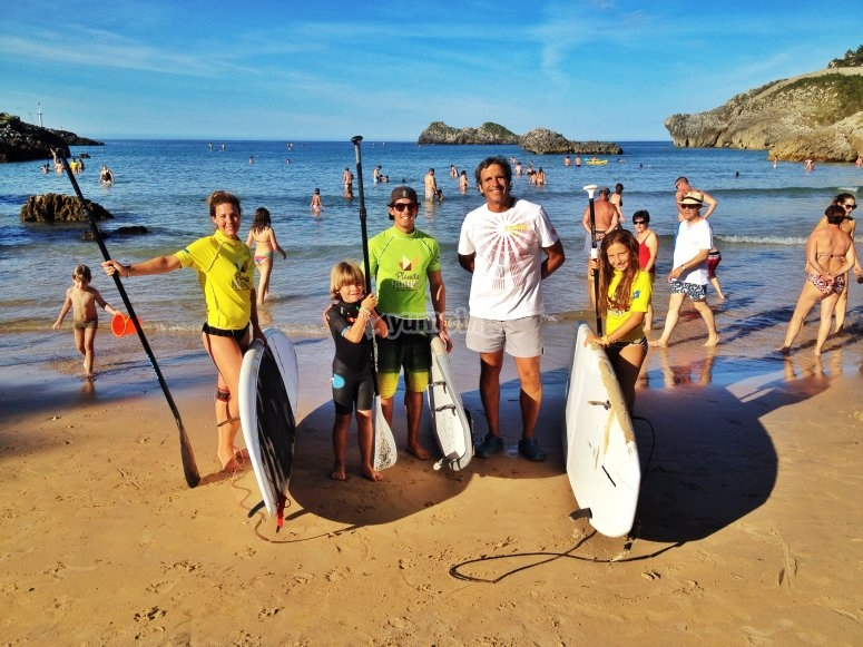 Paddle surf in famiglia