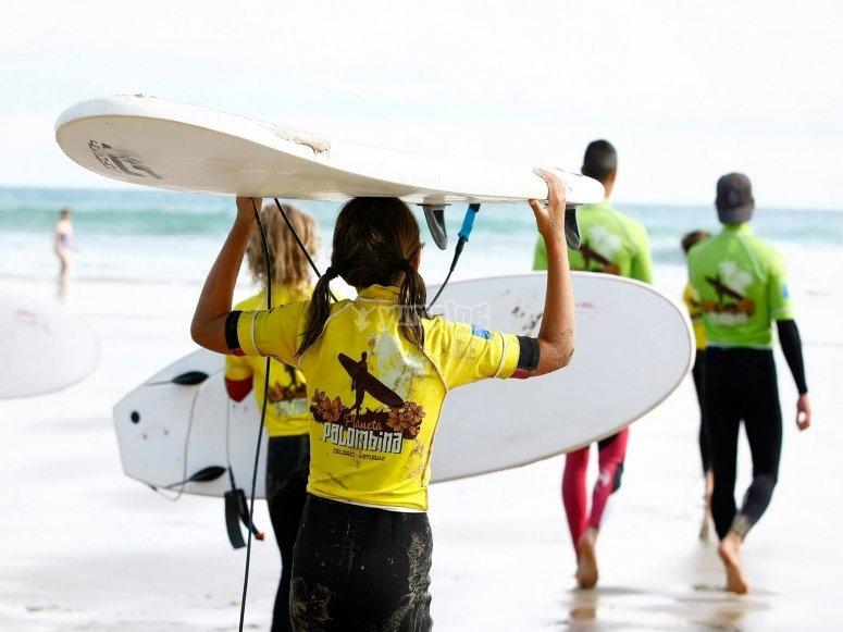 Corsi di surf in Asturie