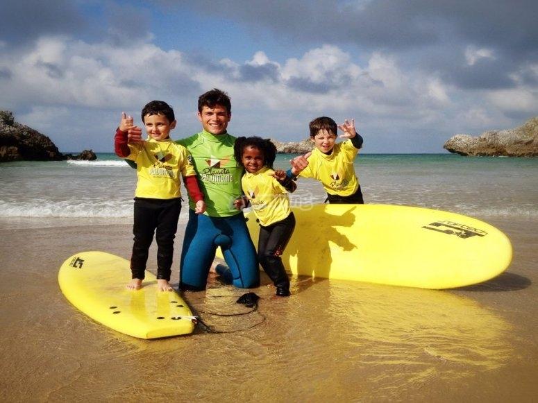 Studenti di surf a Llanes