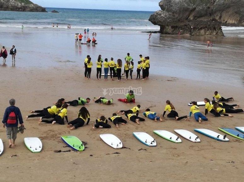 Campo di surf a Celorio
