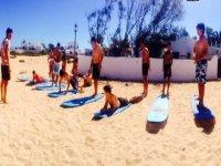 clase sobre la arena