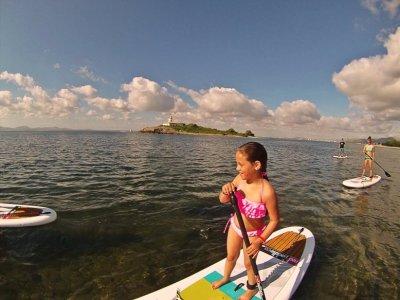 Paddel Surf en Mallorca con snorkel para niños