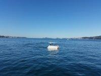 Catamaran in the river