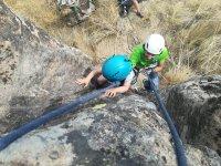 Escalada infantil en roca