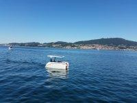 Catamaran on the Vigo river