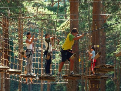 Adventure Park in Cercedilla. Kids Circuit.