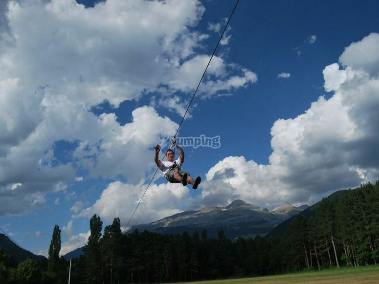 The best zip lining in the Pyrenees