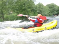 kayaker route in whitewater