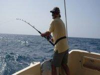 pescador en el barco