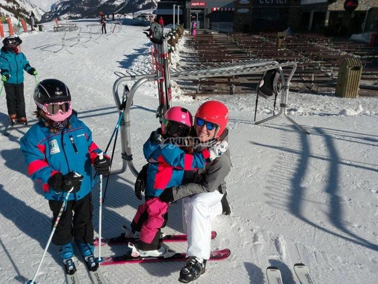 Clases de esqui para ninos