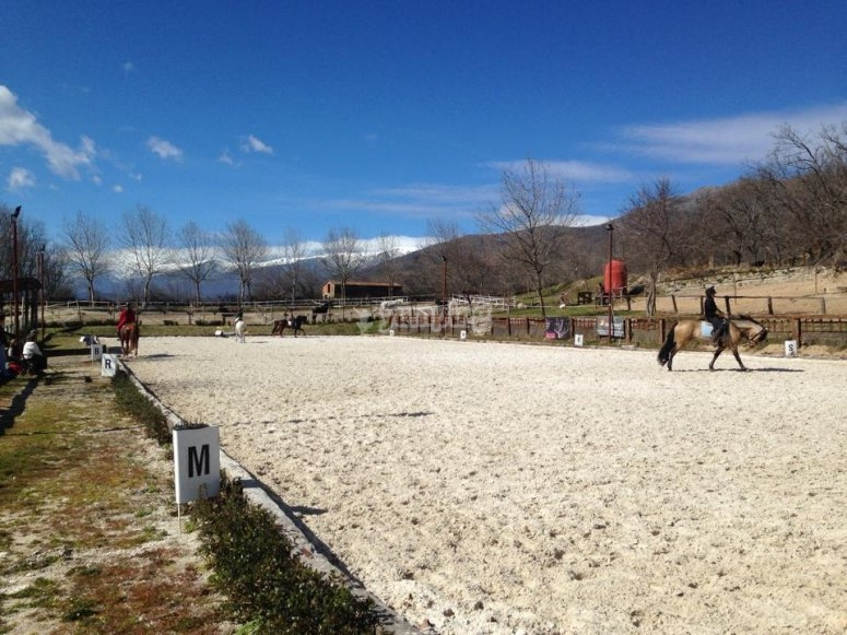 Mini horse riding class in Gredos