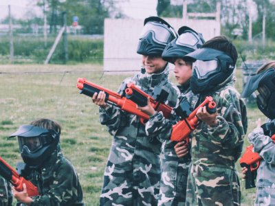 Unlimited Kids Paintballing + Burger in Torrejón