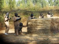 Partida de paintball para despedidas