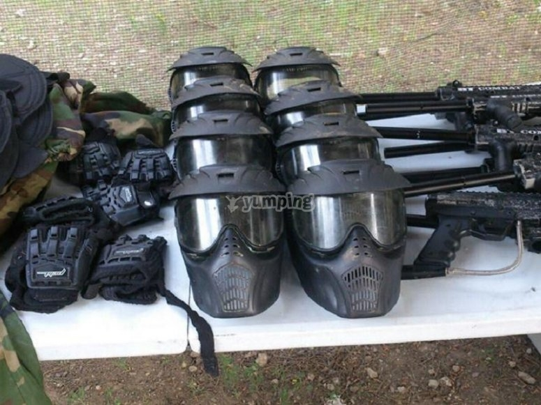 Material para paintball