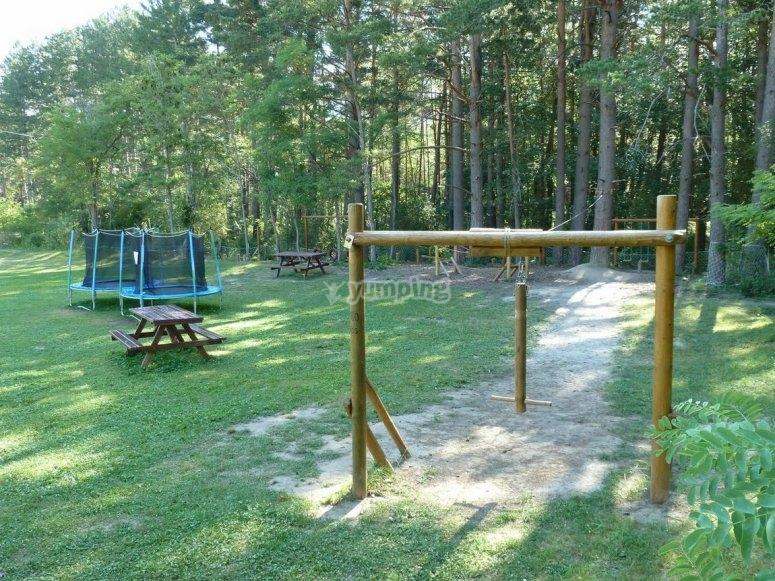 Zona infantil del parque
