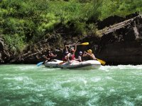 Rafting with family