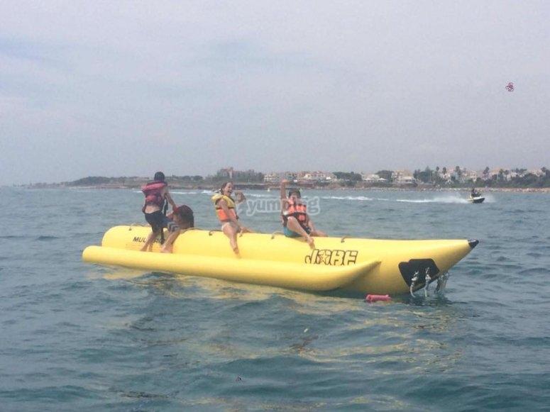 Banana boat para amigos