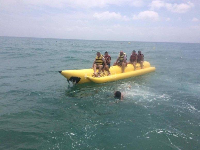 Banana boat en la Costa de Azahar