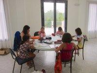 Estudiando en grupo