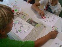 Pintando en el campamento