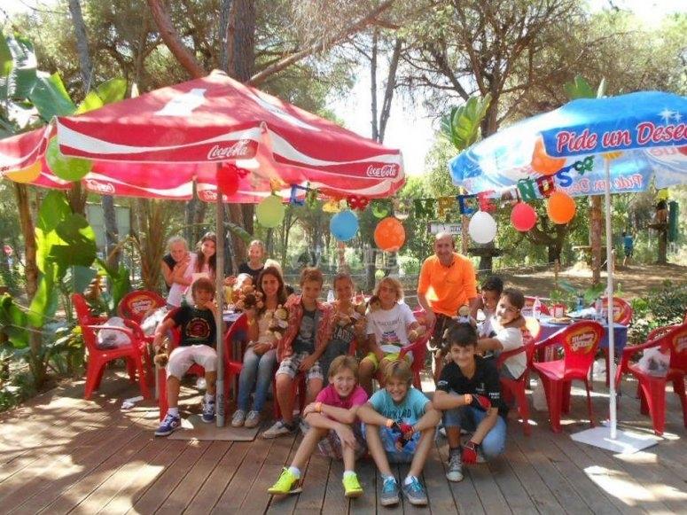 Festa sulla terrazza del parco