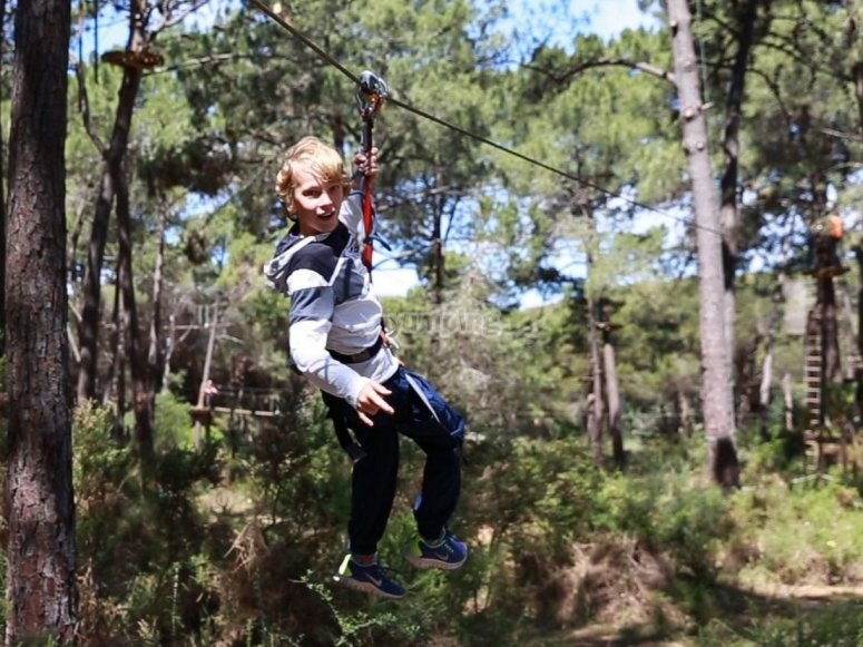 Zip lining for kids