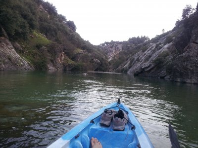Canoeing and rappeling in Cazorla