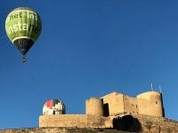 Globo sobre el castillo de Consuegra